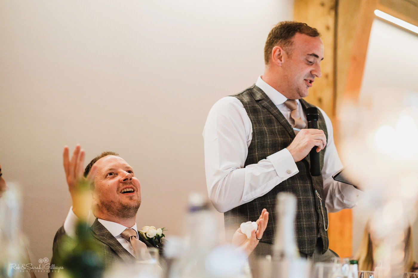 Groom gives wedding speech