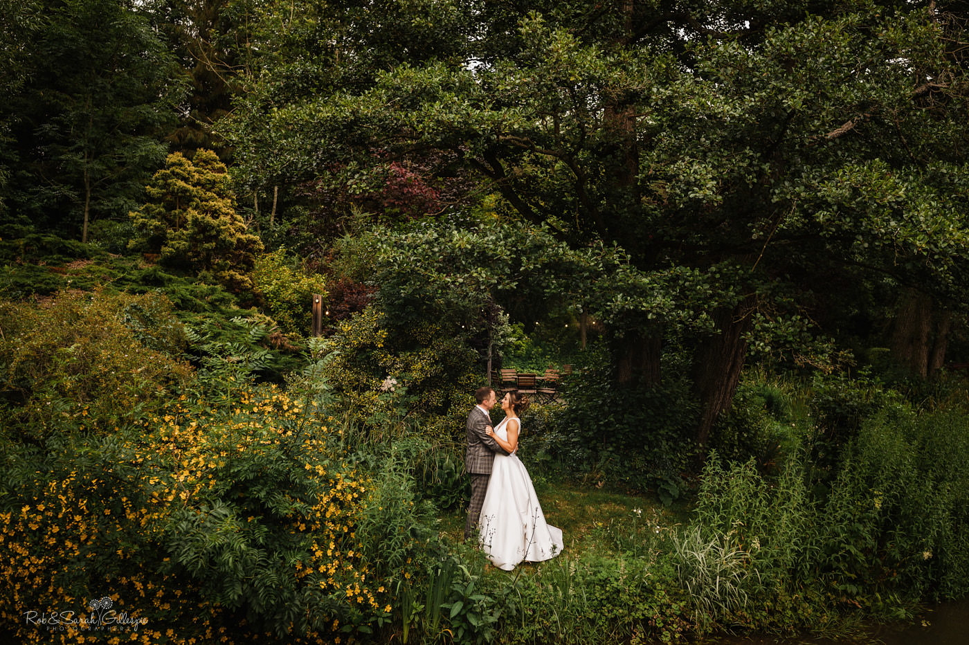 Natural photos of bride and groom at The Mill Barns