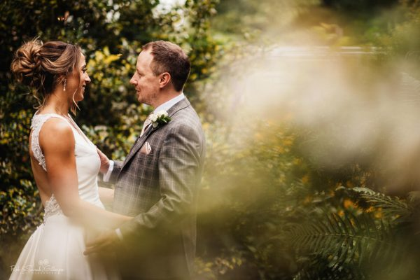 newly married couple in gardens