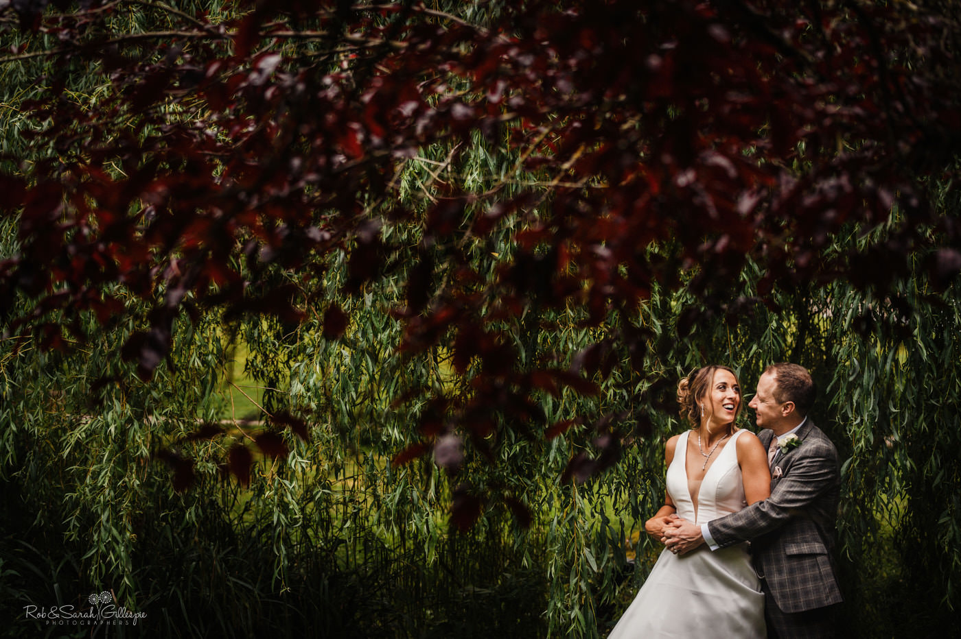 Bride and groom married at The Mill Barns