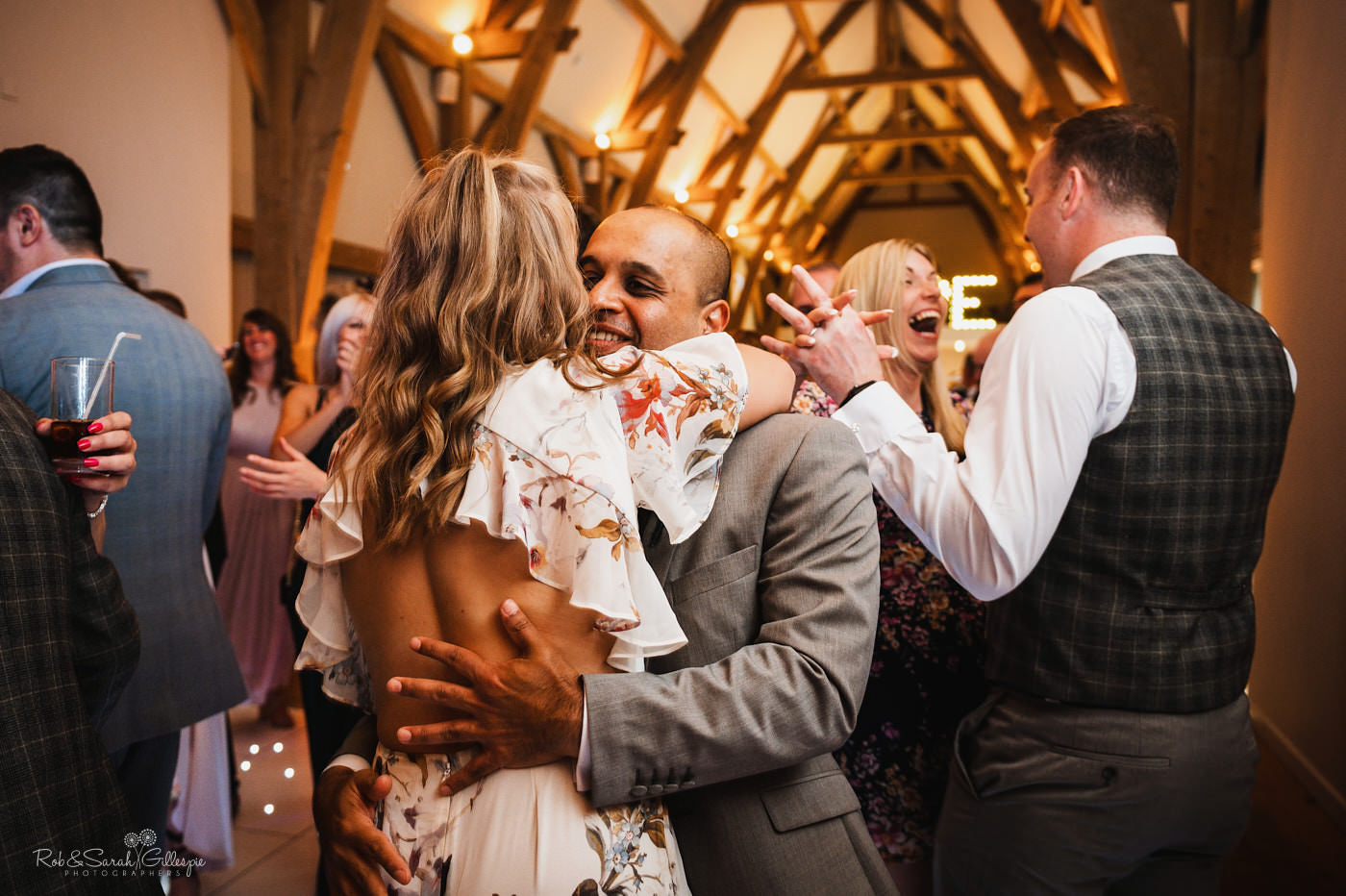 Bride and groom first dance. Mill Barns wedding photography