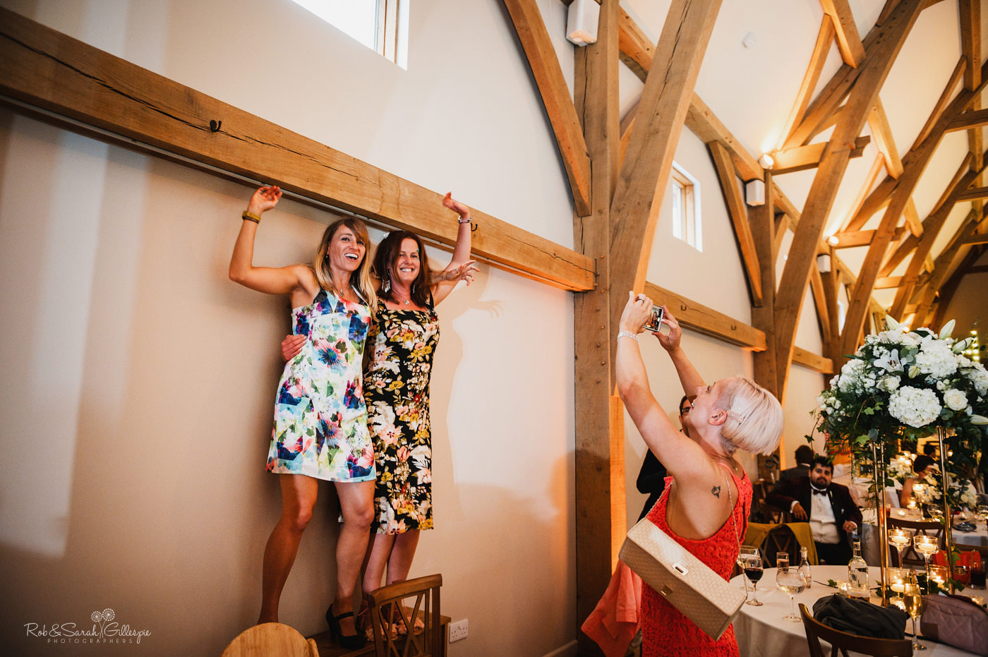 Wedding guests dance at The Mill Barns