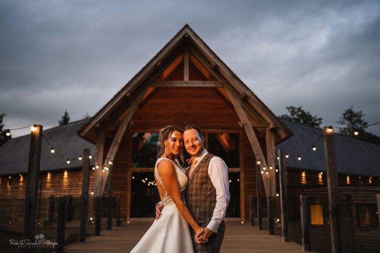 Newly married couple at The Mill Barns in Shropshire