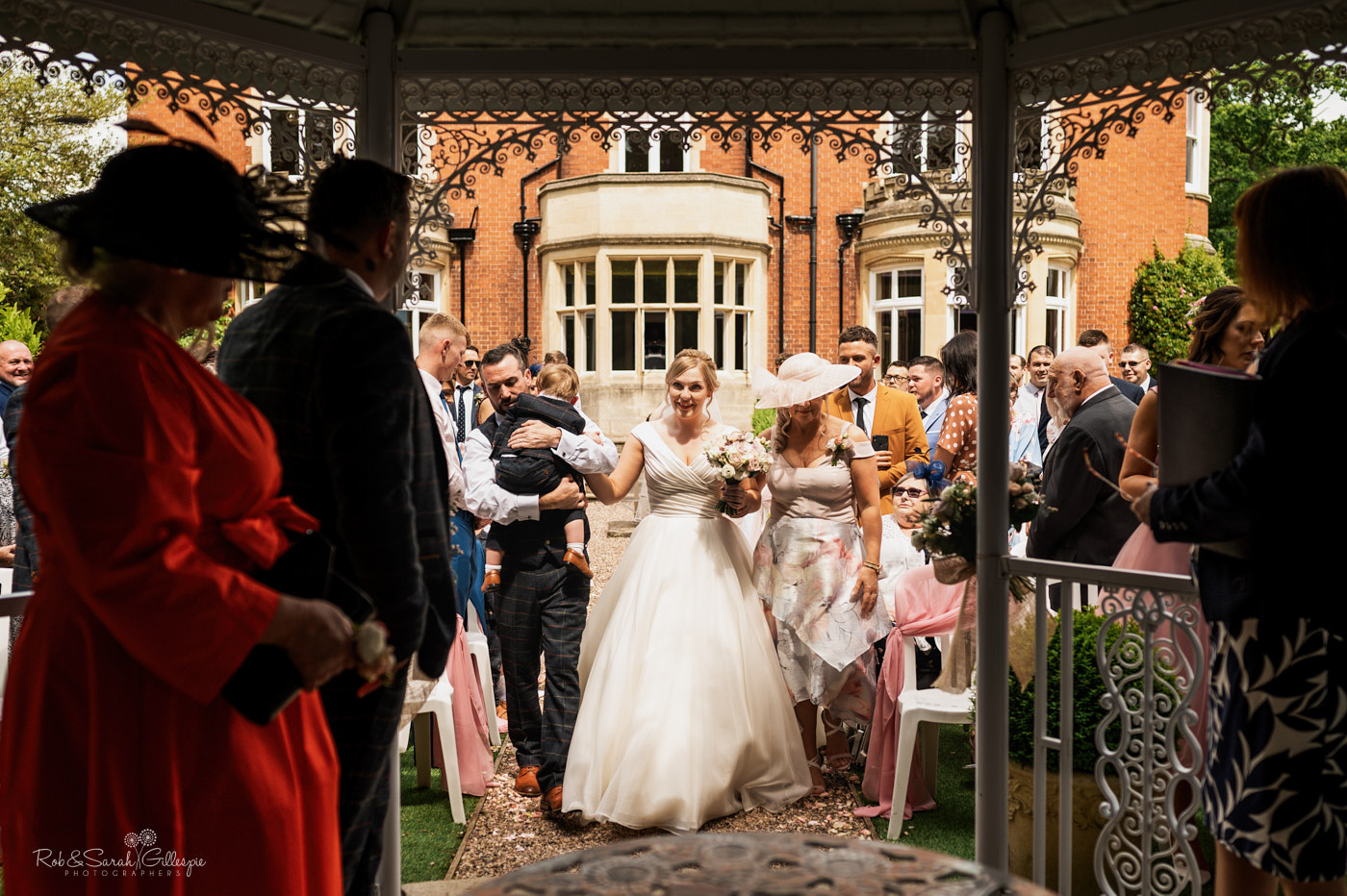 Outdoor wedding at Pendrell Hall