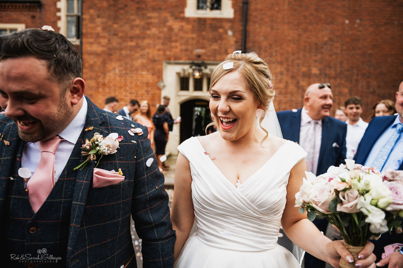 Wedding confetti at Pendrell Hall