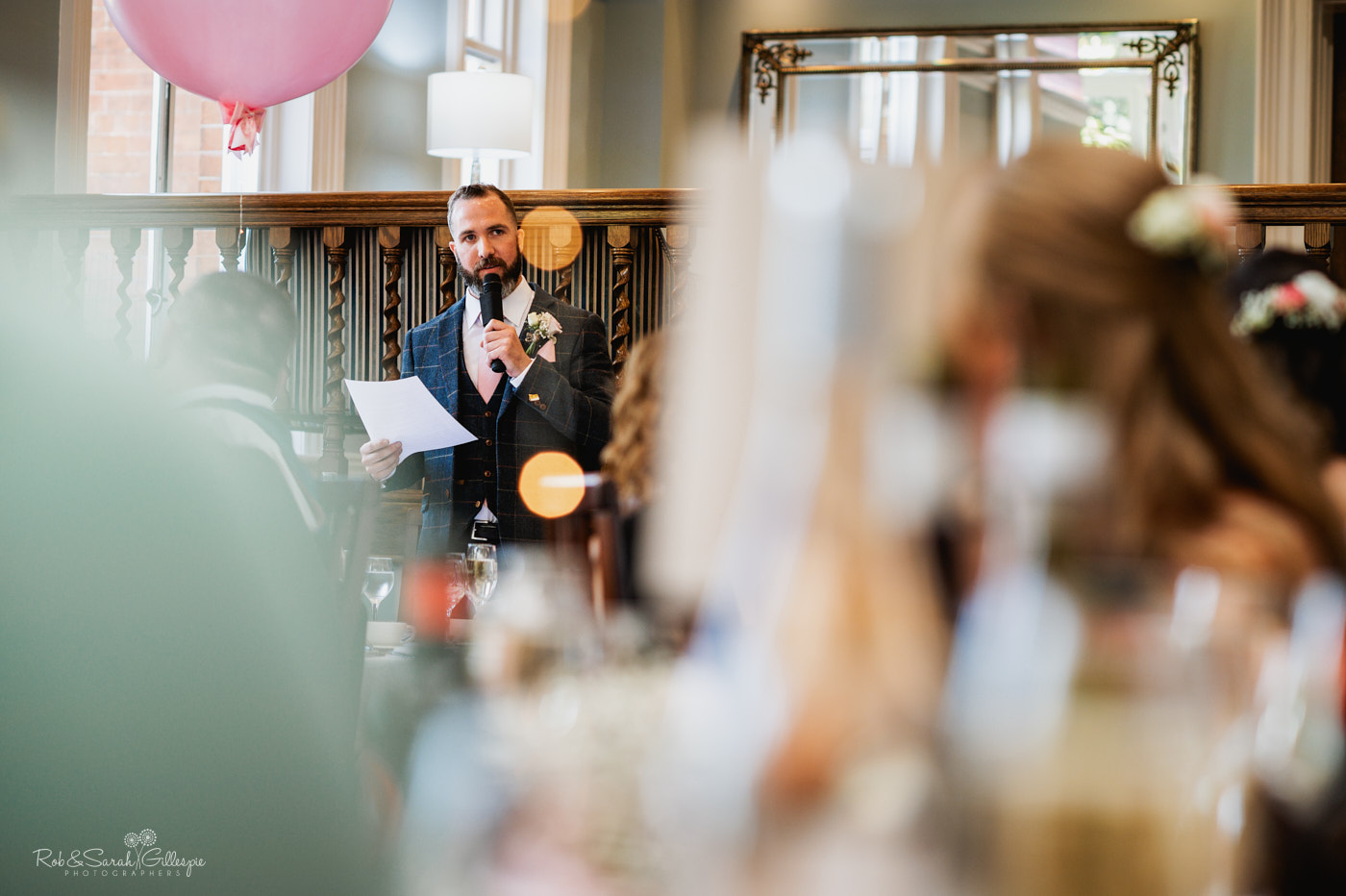 Pendrell Hall wedding speeches