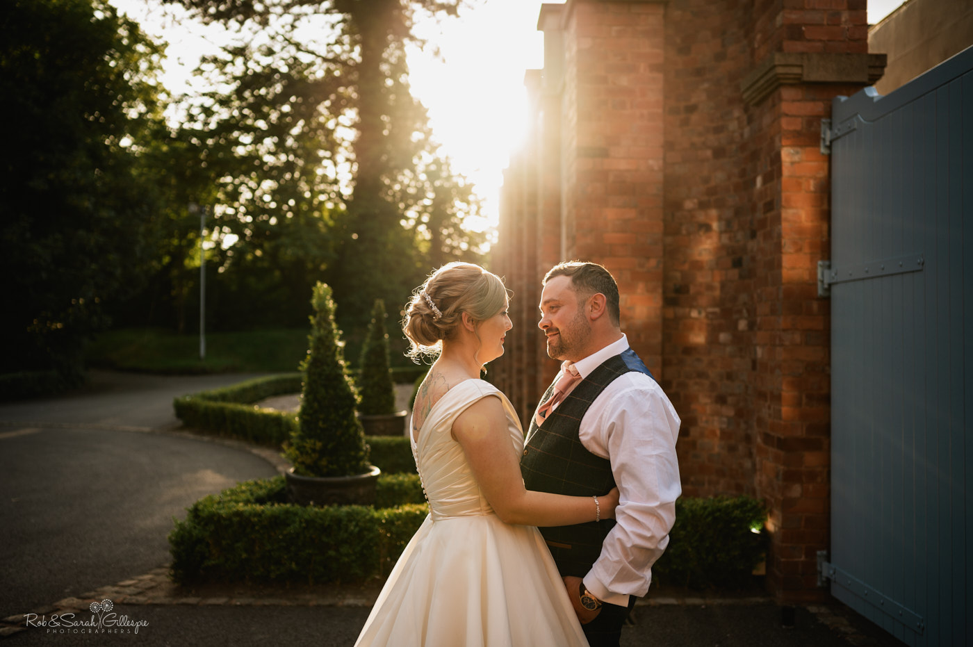Wedding couple photos at Pendrell Hall with beautiful light