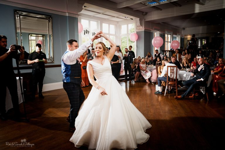 Bride and groom first dance at Pendrell Hall wedding