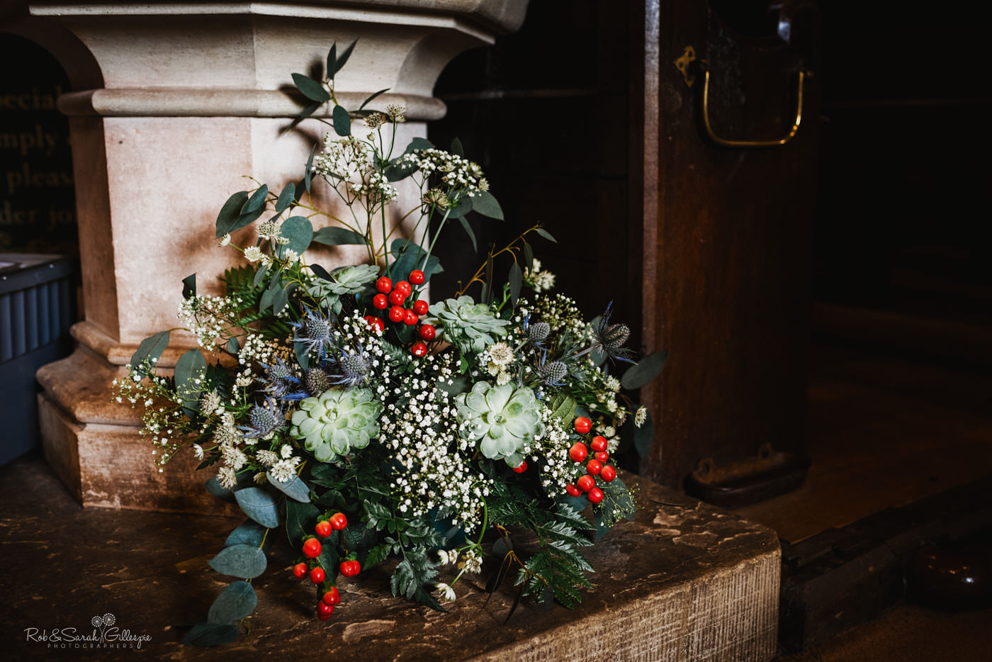 Flowers decorate St Kenelm's church in Worcestershire