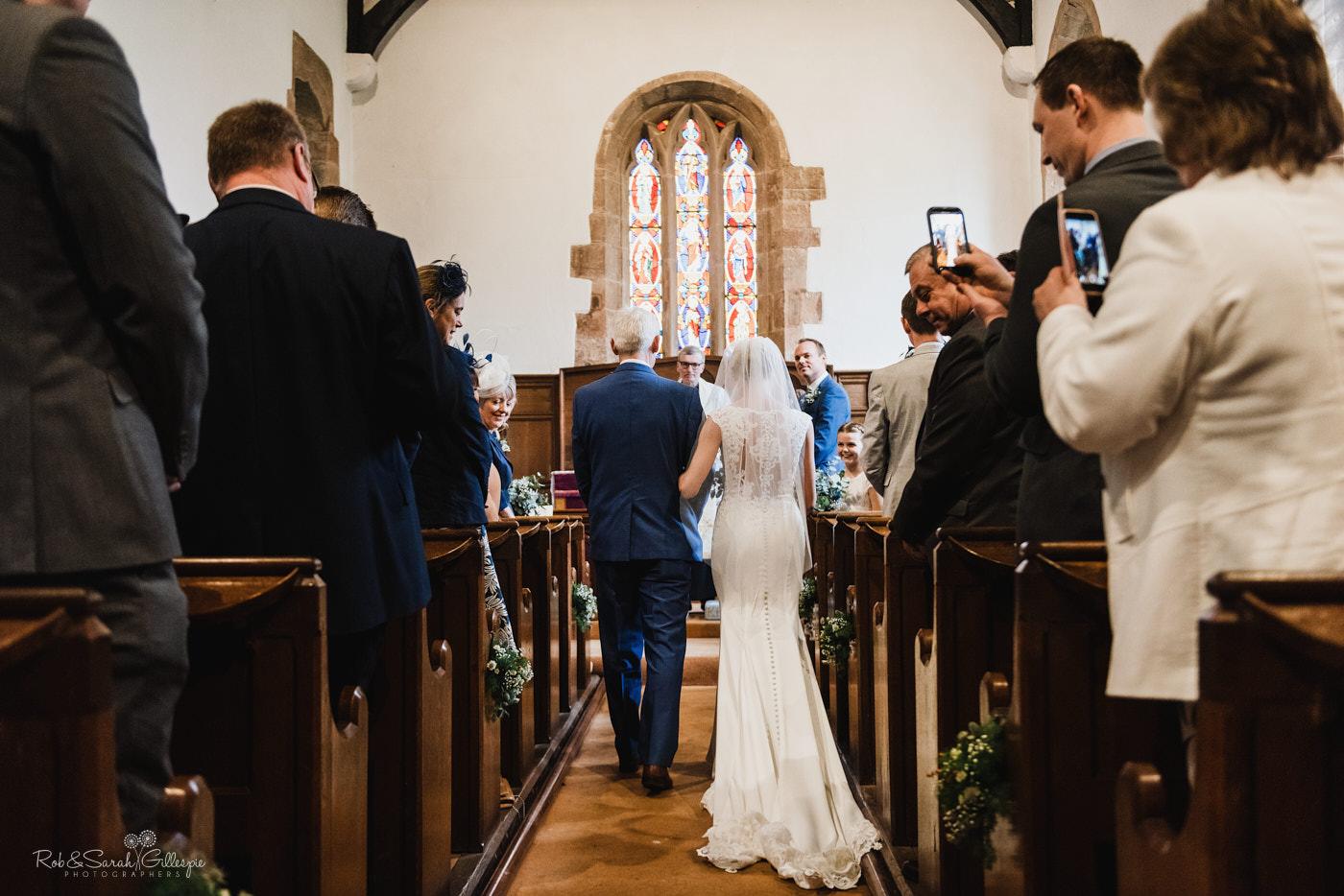 St Kenelm's church Worcestershire wedding ceremony