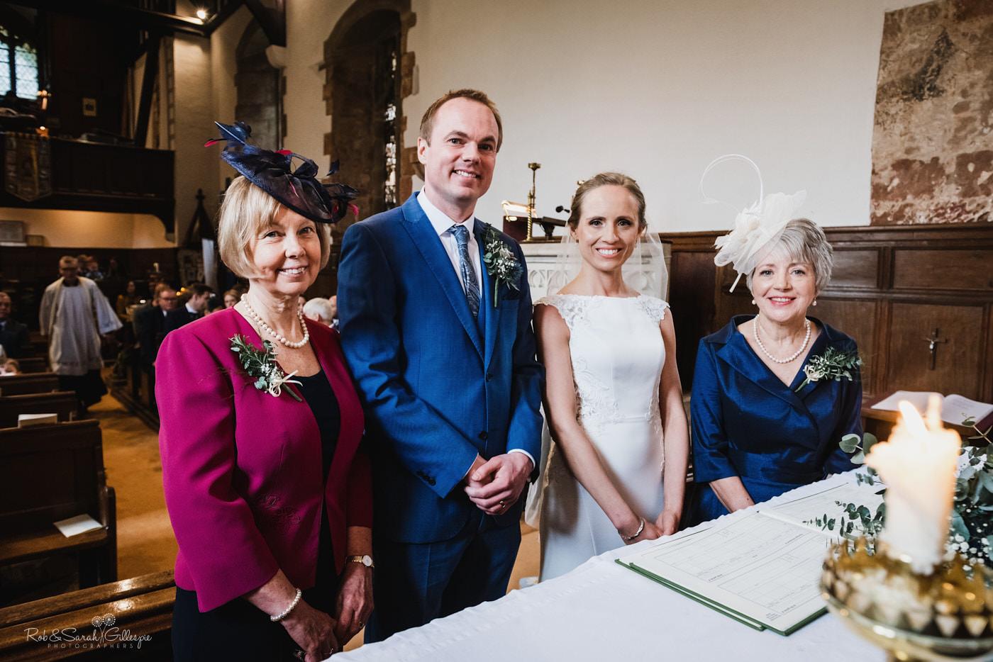 Wedding at St Kenelm's church