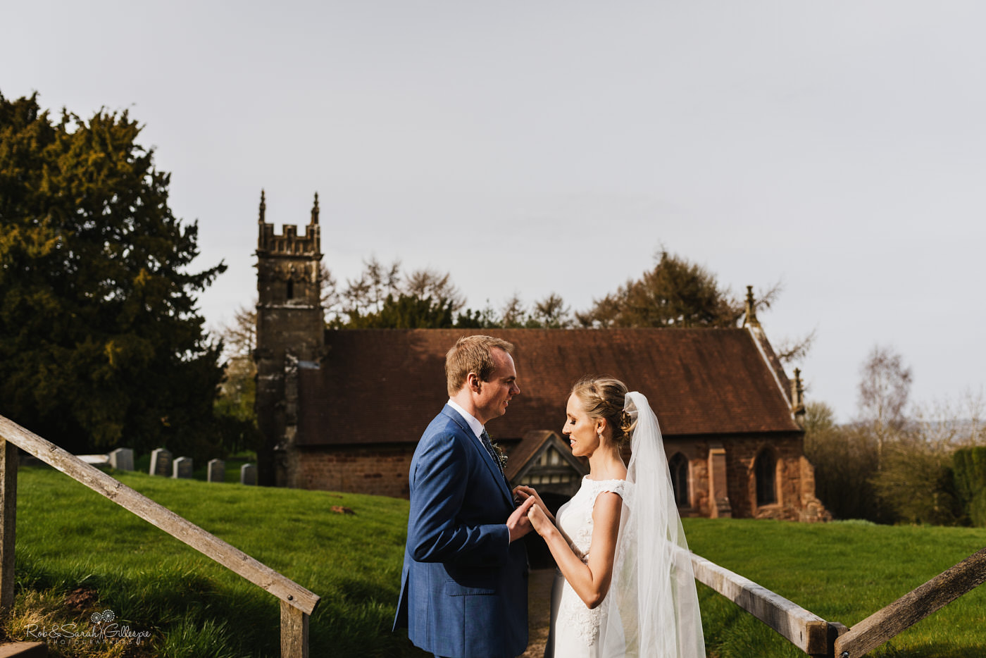 Wedding photography at St Kenelm's church & Swallows Nest Barn