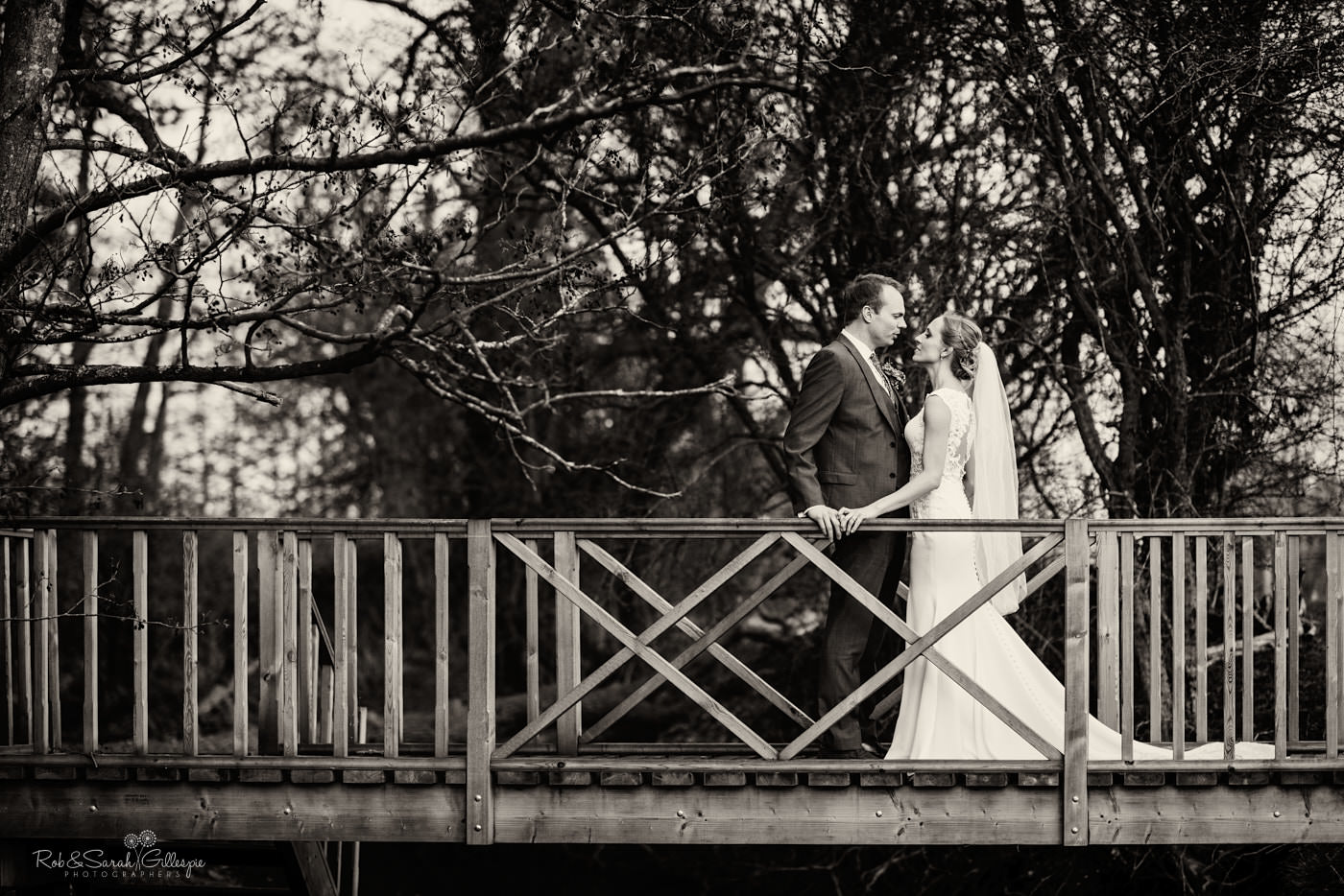 Wedding portraits at Swallows Nest Barn in Warwickshire