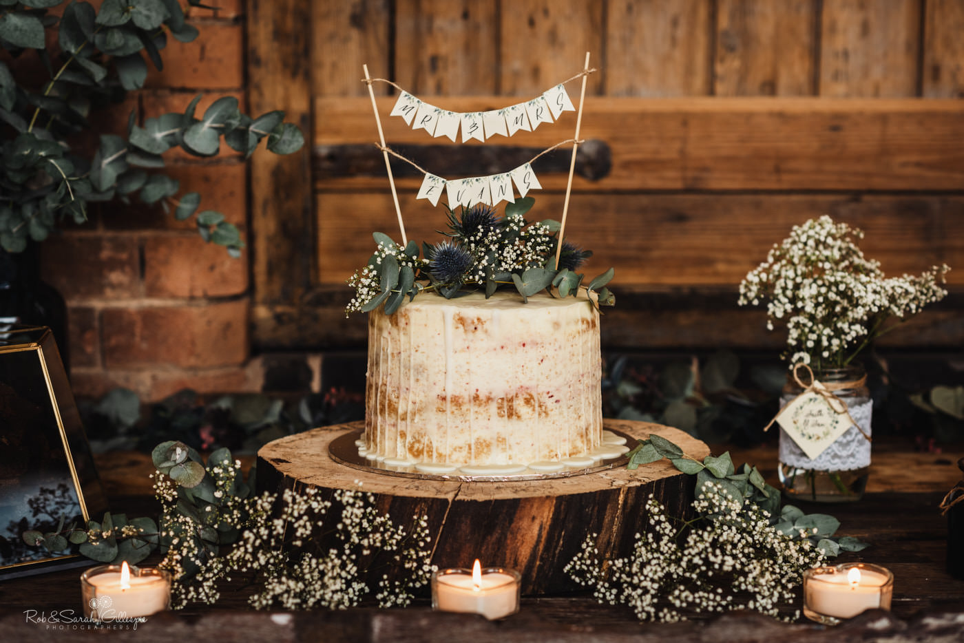 Wedding cake at Swallows Nest Barn