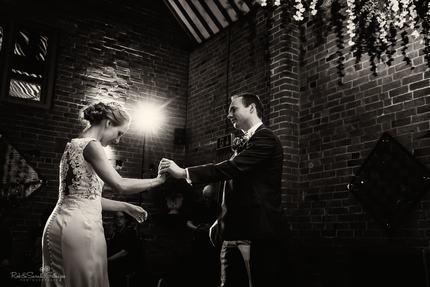 Swallows Nest Barn first dance by bride and groom