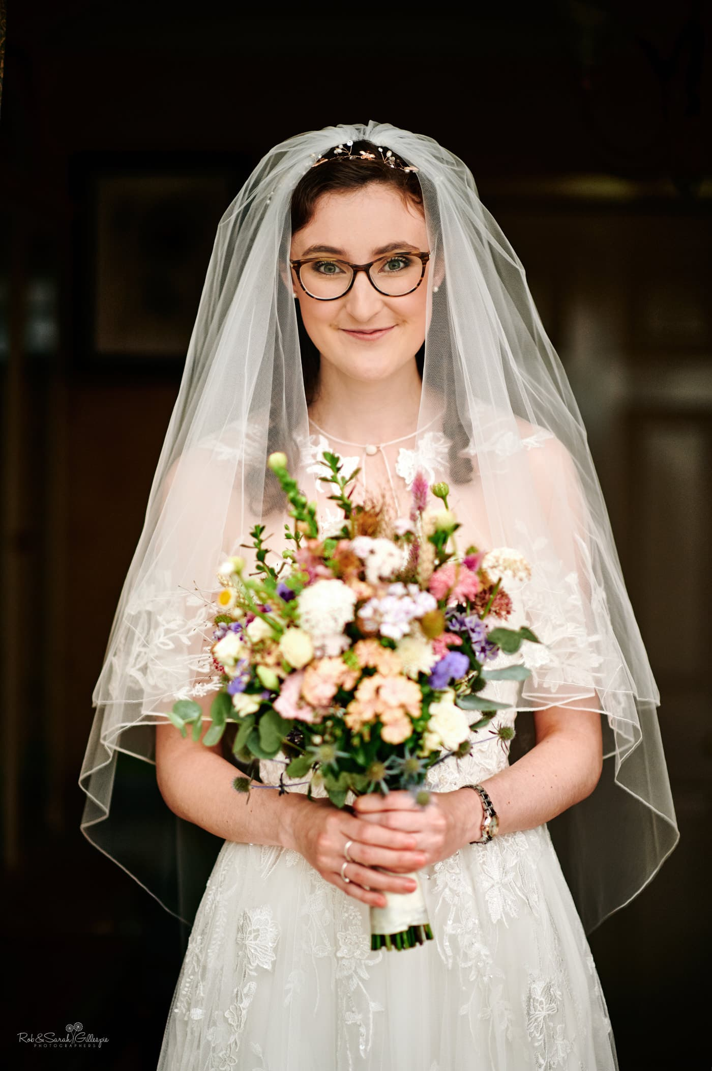 Bride portrait with beautiful bouquet