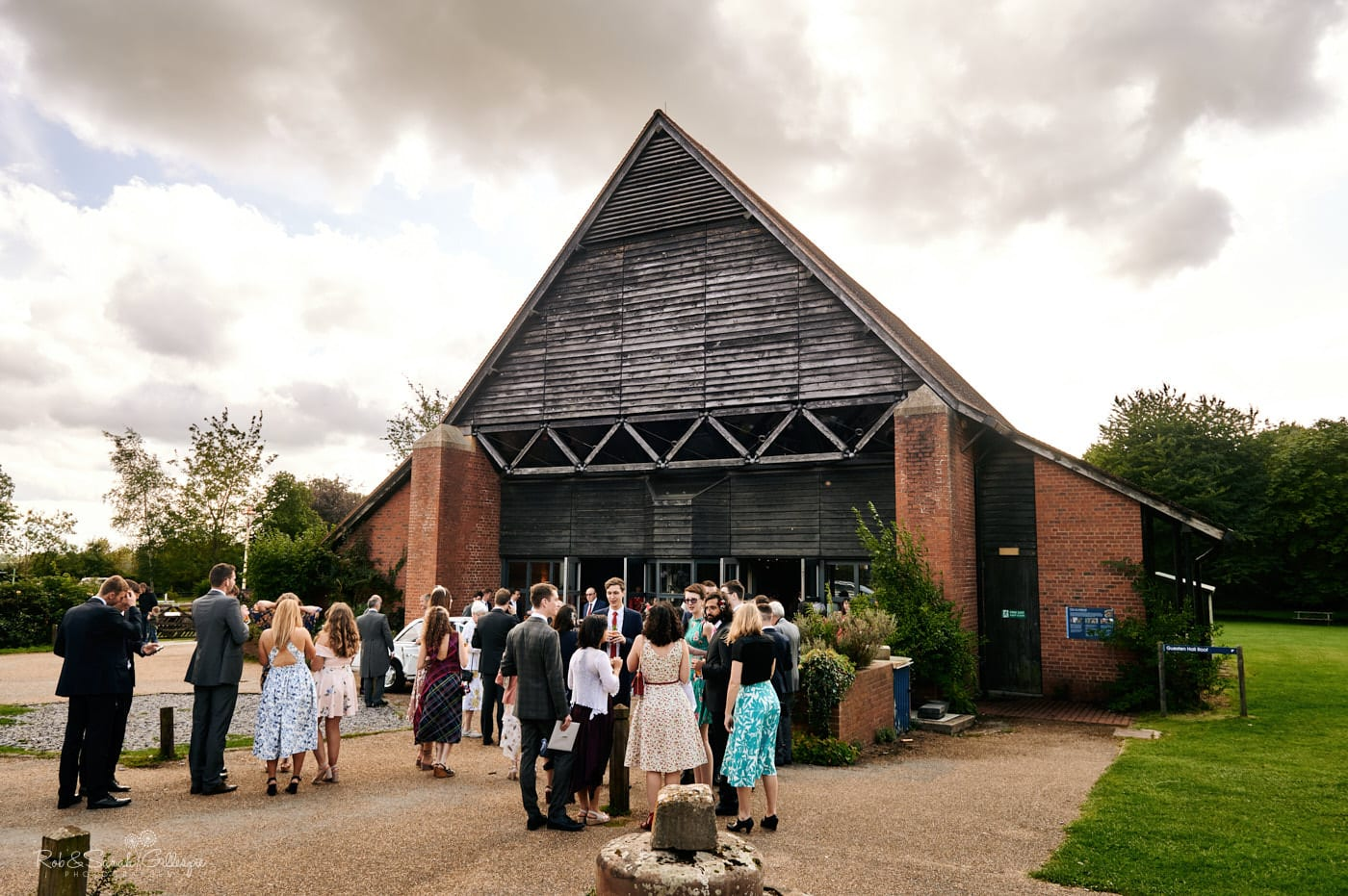 Guests at Avoncroft Museum wedding reception