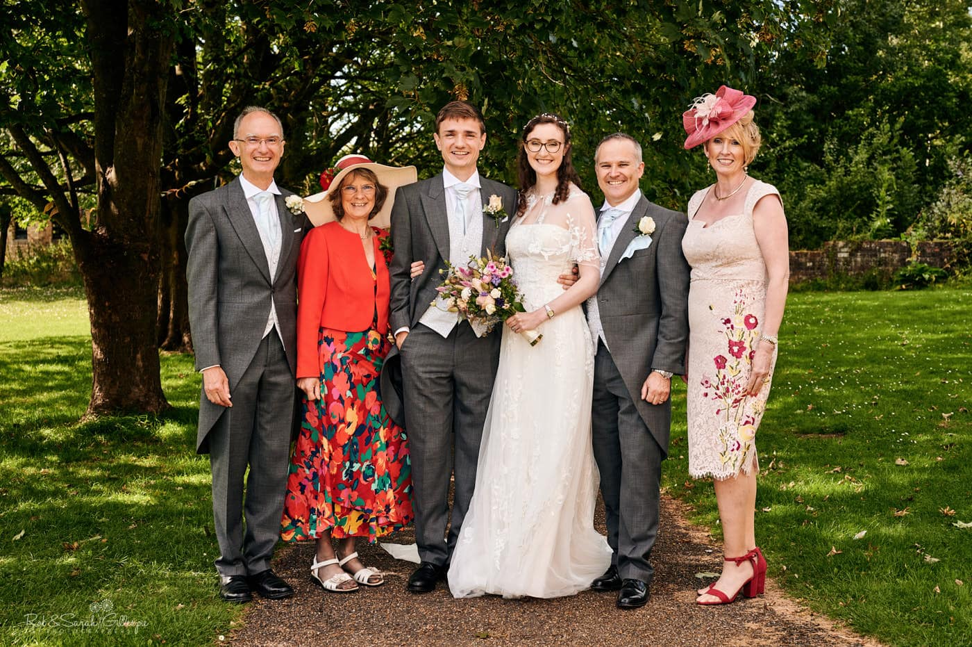 Avoncroft Museum wedding group photo