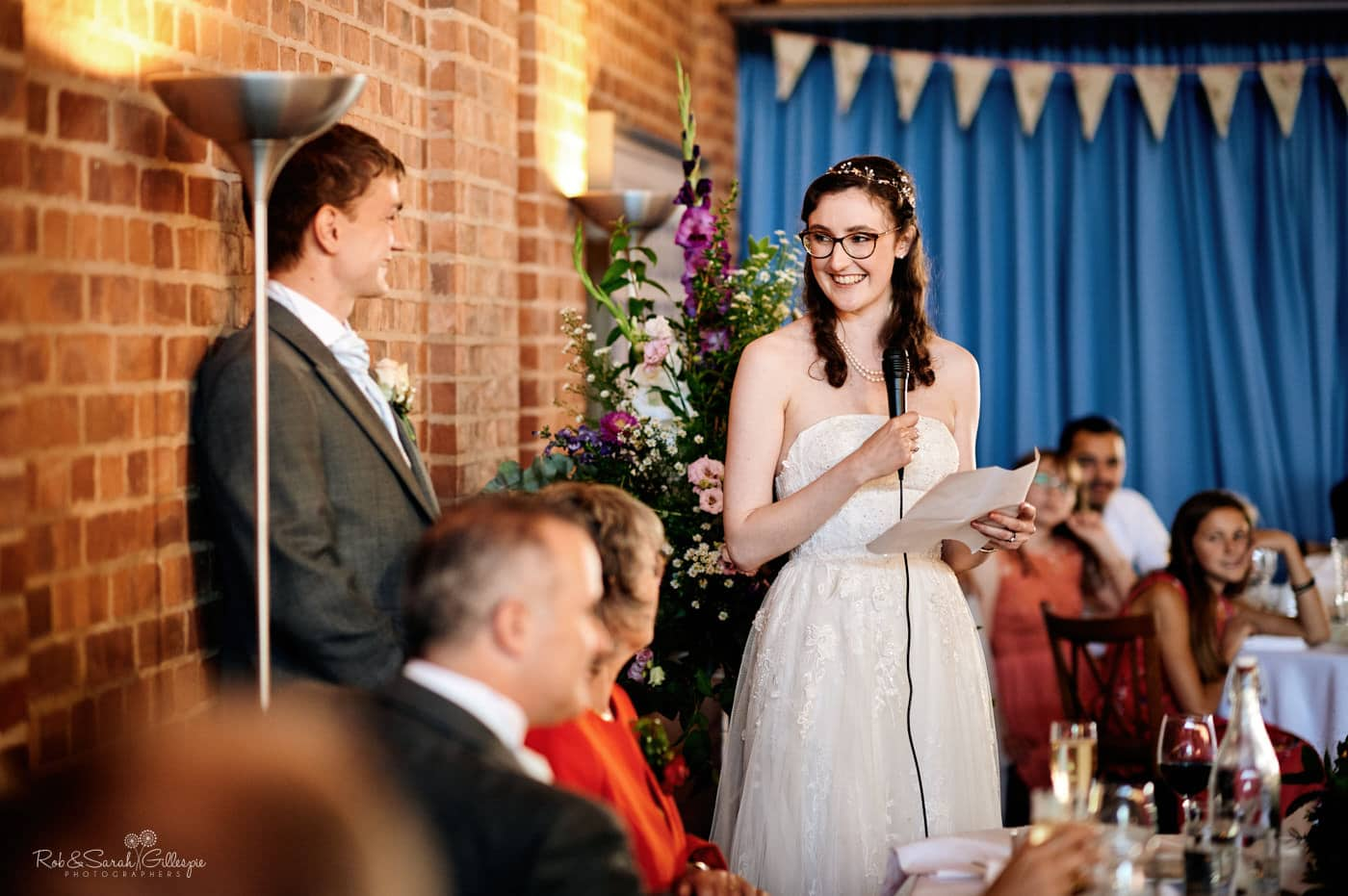 Speeches at Avoncroft Museum wedding
