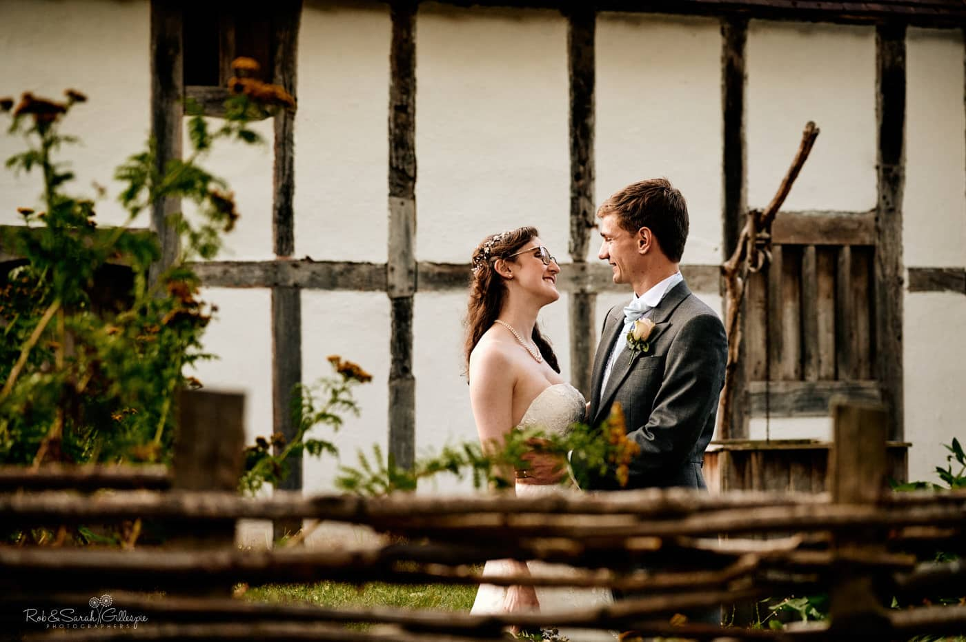 Newly married couple relaxing at Avoncroft Museum