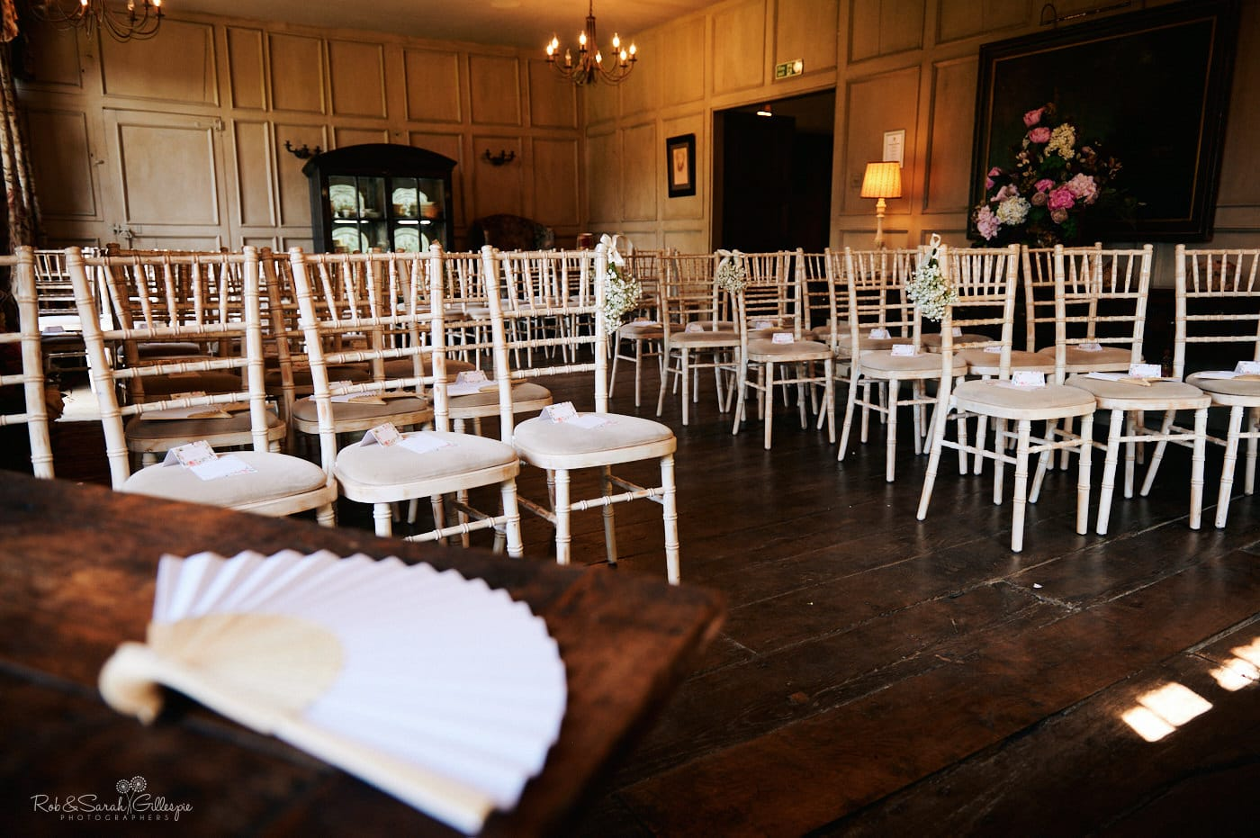 Wedding ceremony room at Gorcott Hall