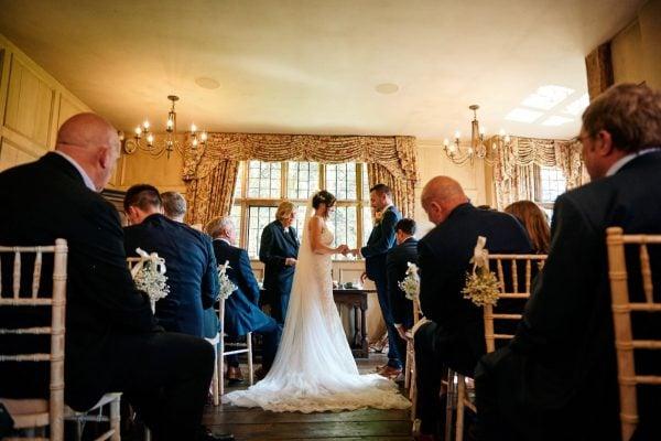 Wedding ceremony at Gorcott Hall