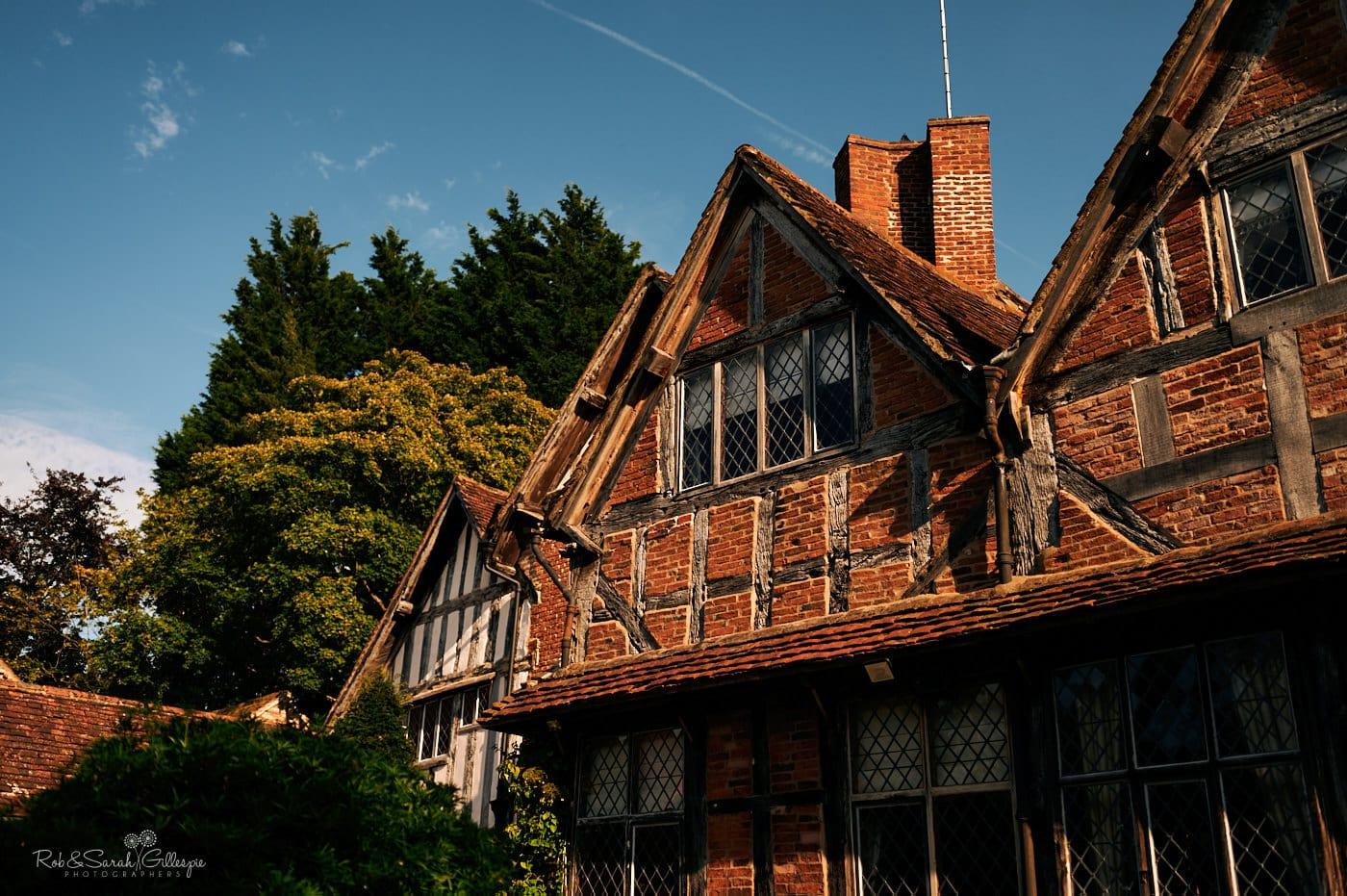 Exteriror of Gorcott Hall on bright summer afternoon