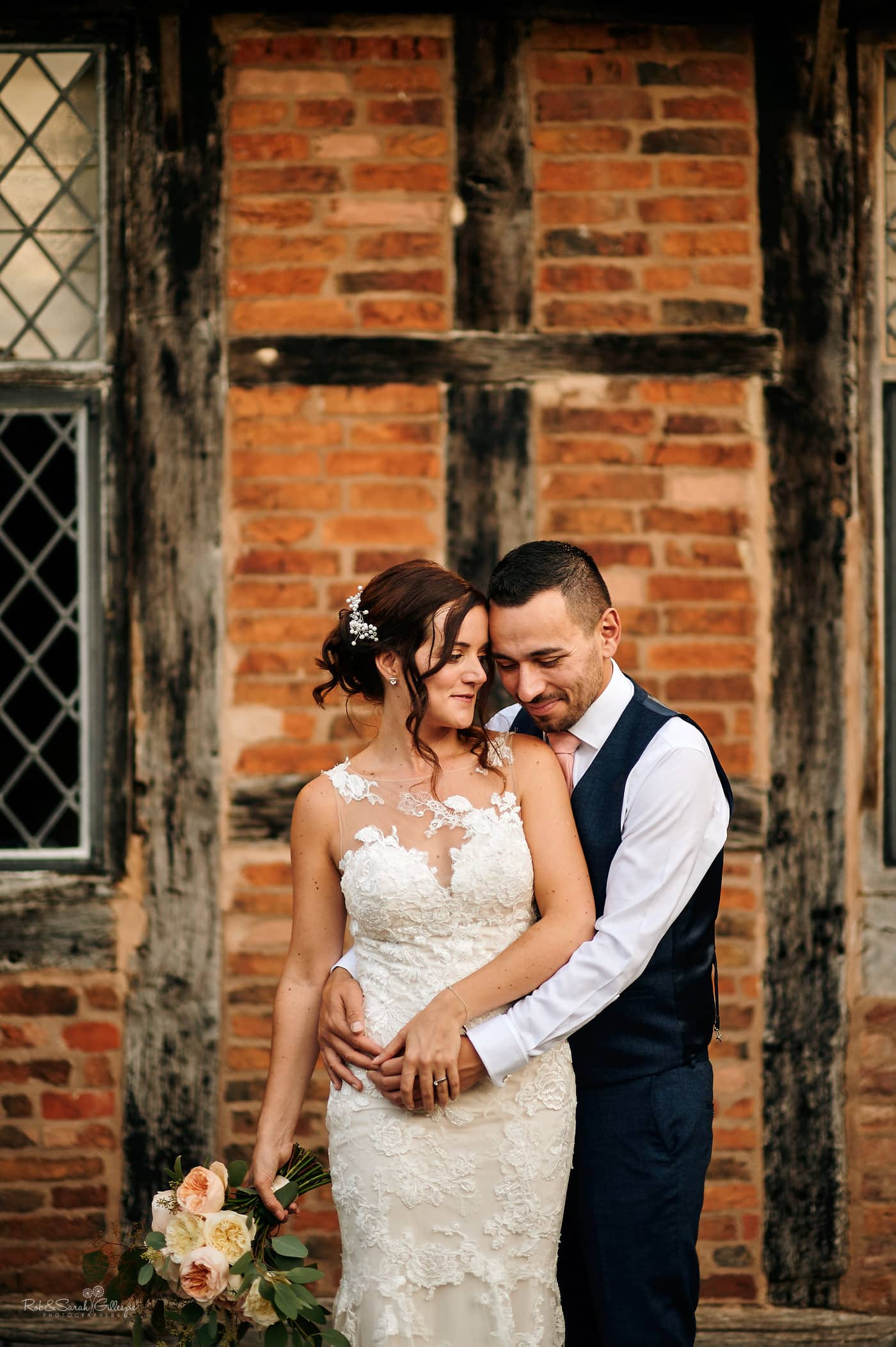 Bride and groom together at Gorcott Hall wedding