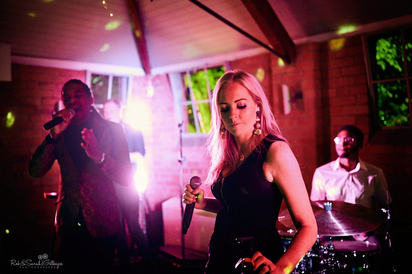 Live band play at Gorcott Hall wedding