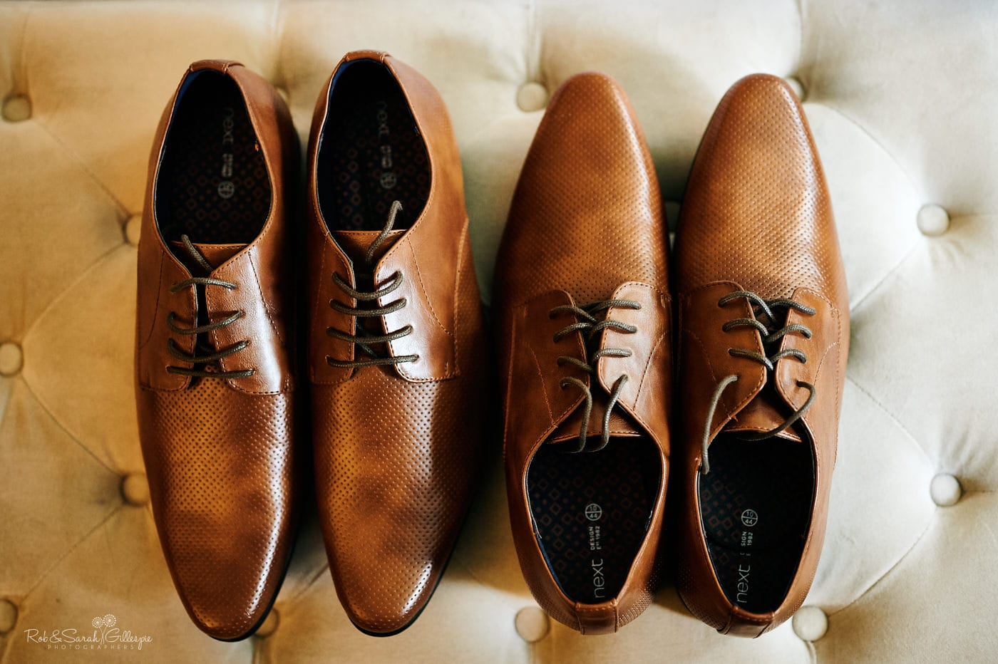 Two pairs of mens shoes for wedding