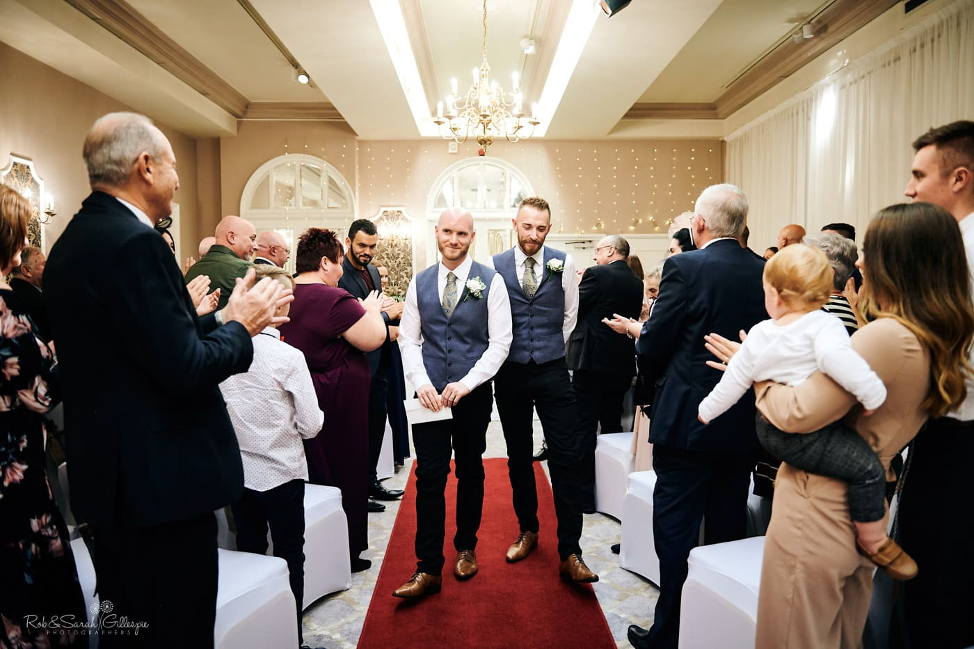 Two grooms married at Moor Hall Hotel