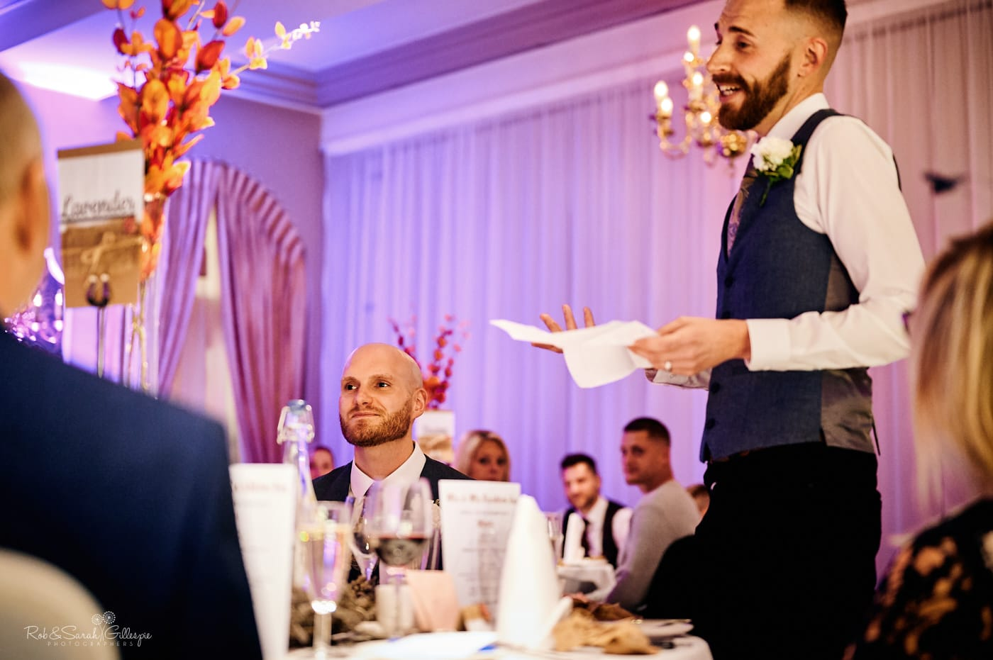 Wedding speeches at Moor Hall Hotel