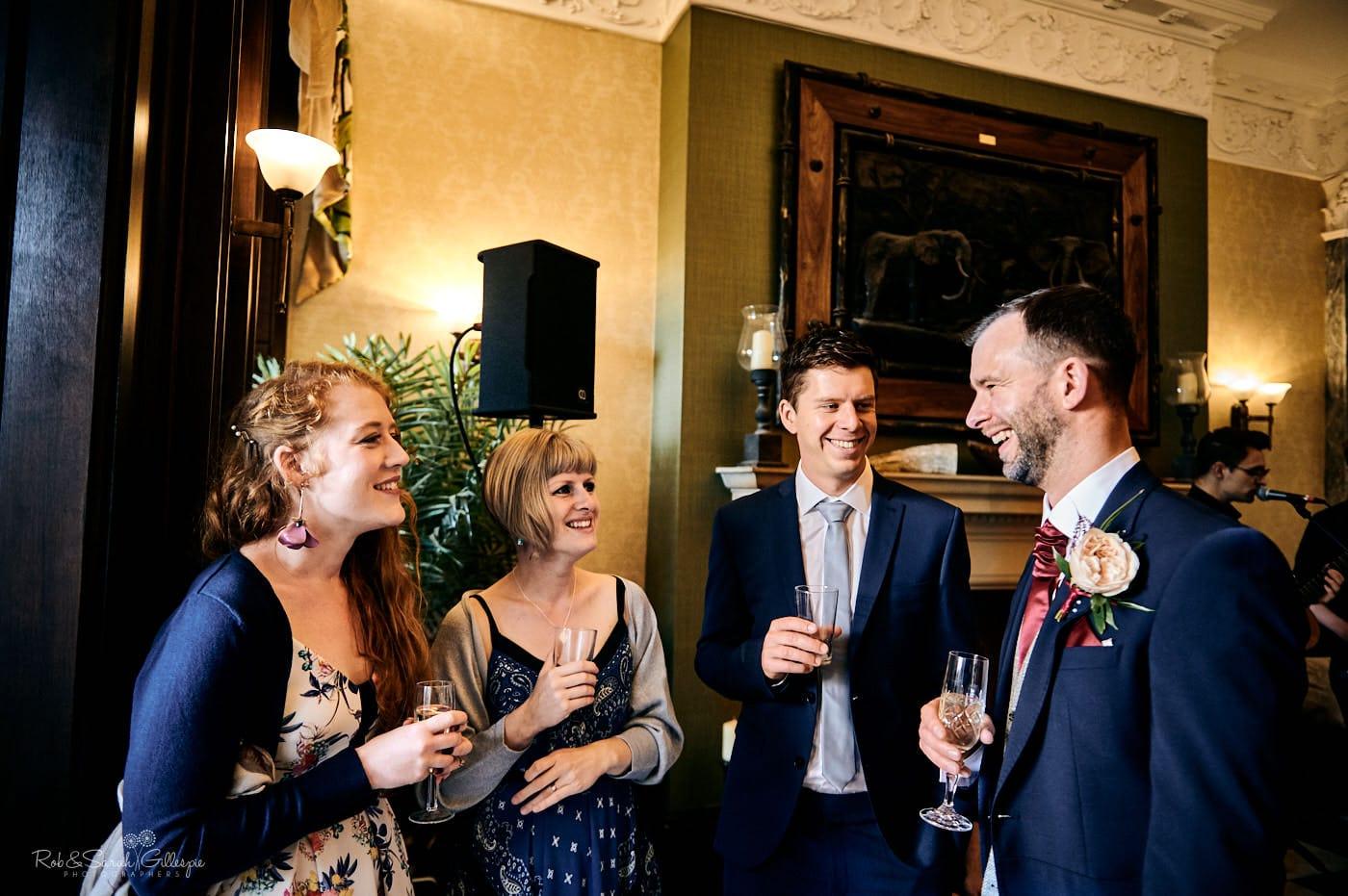 Wedding reception at Spring Grove House