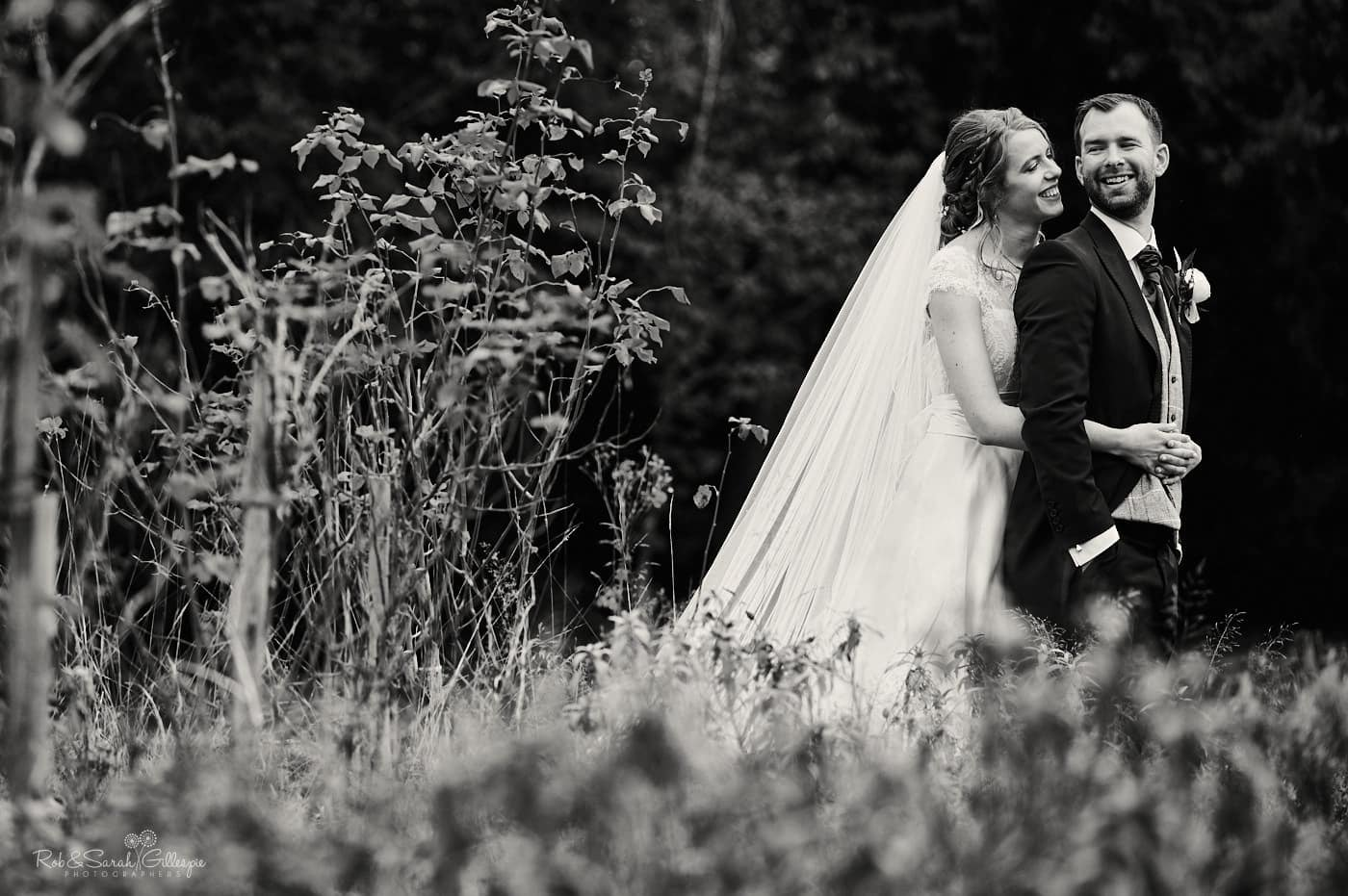 Bride and groom couple phot at Spring Grove House wedding