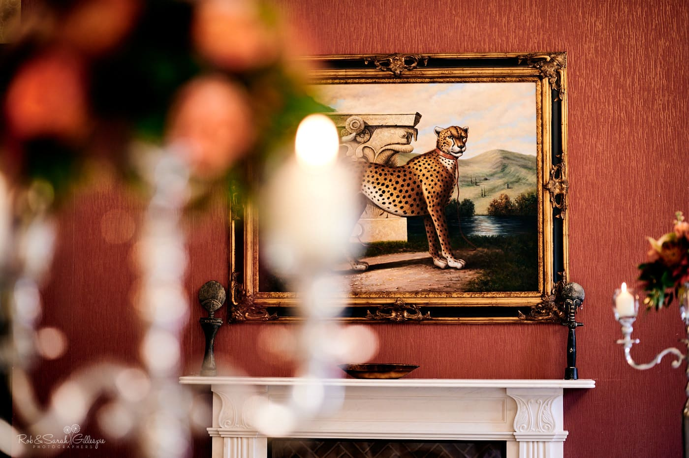 Painting of wild animals at Spring Grove House