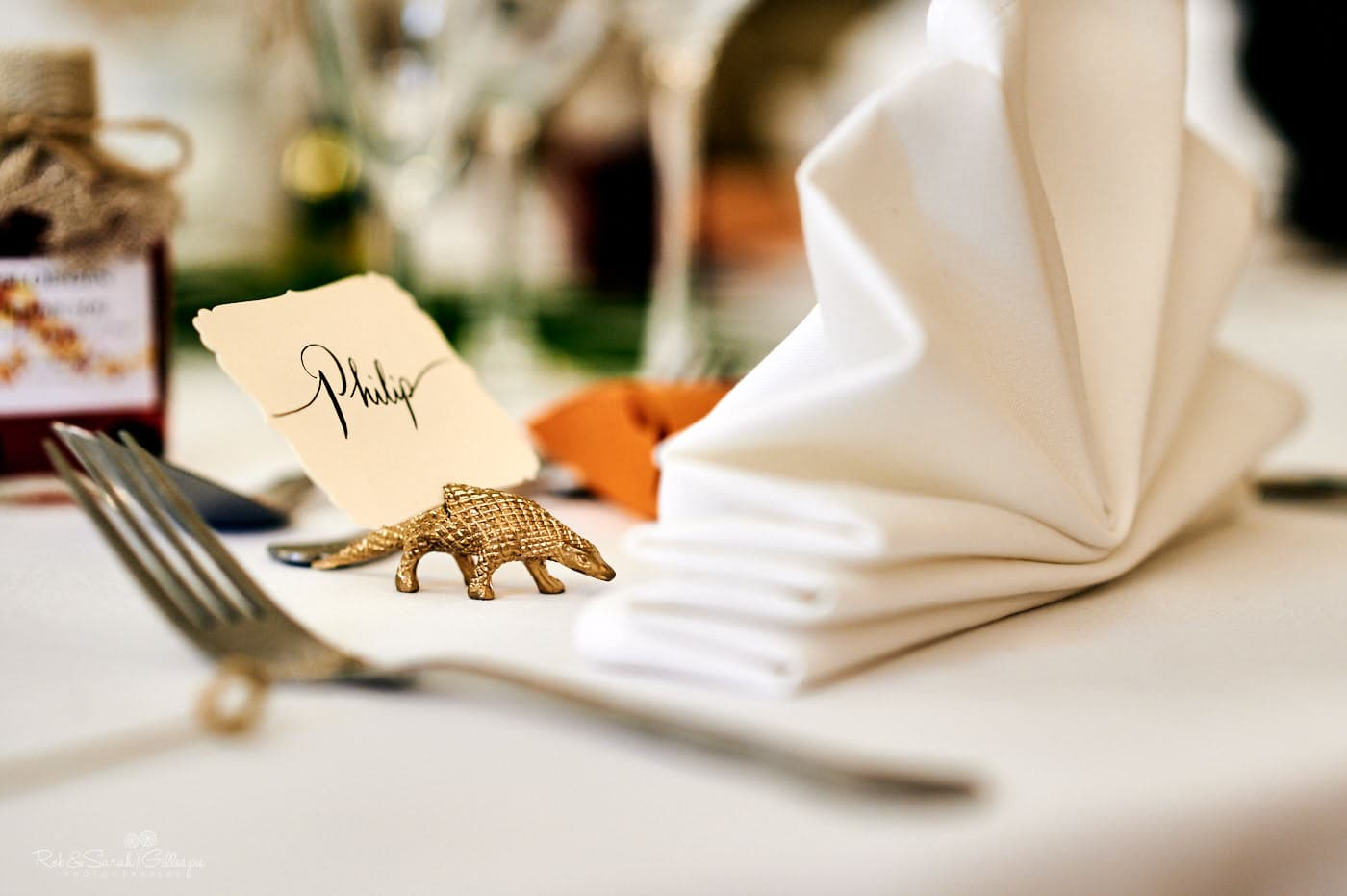 Wedding meal table details