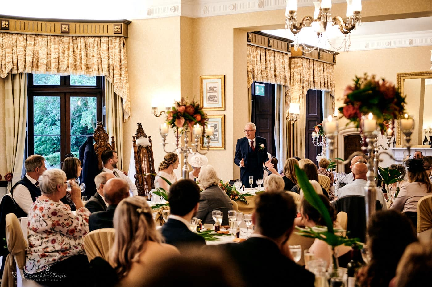 Wedding speeches at Spring Grove House