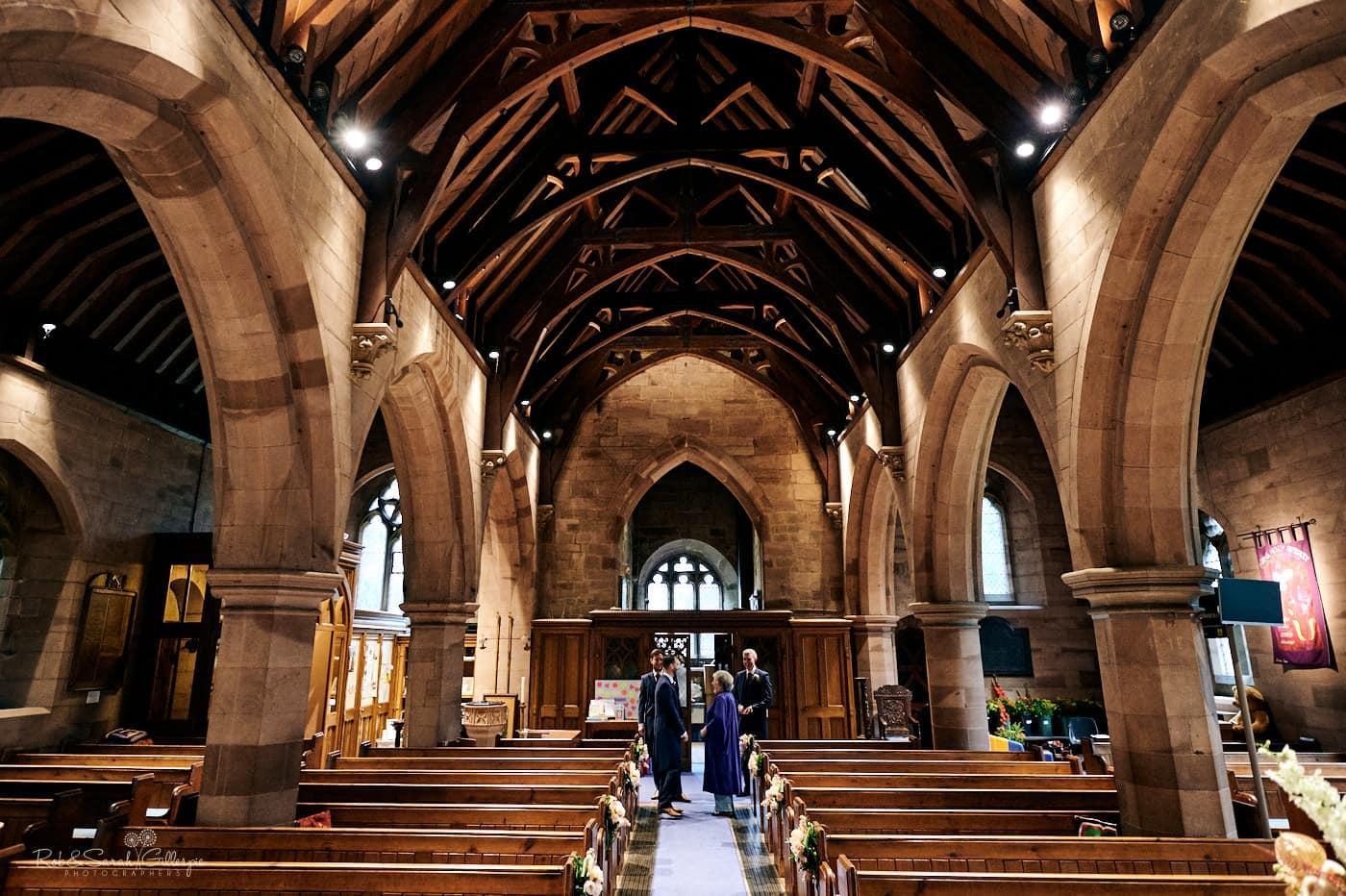 Inside St Peter's church Pedmore