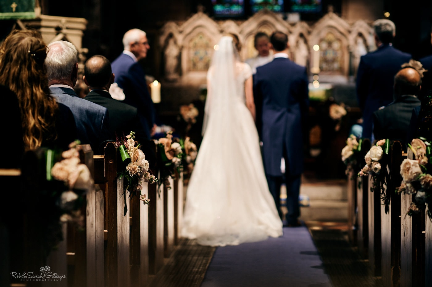 Wedding ceremony at St Peter's church Pedmore