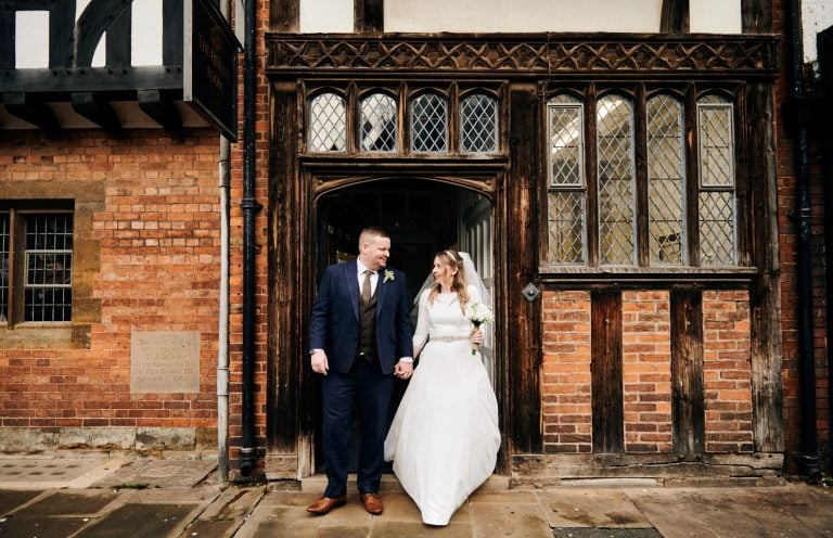 Bride and groom married at The Henley Room in Stratford-upon-Avon