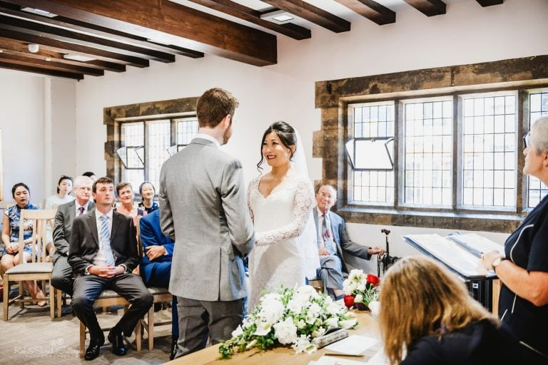 Wedding ceremony at The Henley Room in Stratford upon Avon
