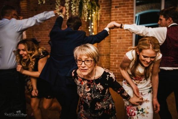 Barn dance at wedding