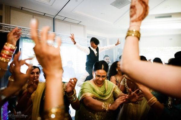 Dancing at indian wedding