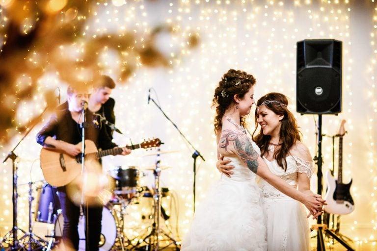 Two brides wedding first dance