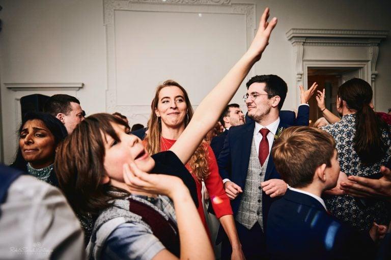 Wedding guests enjoying dancefloor