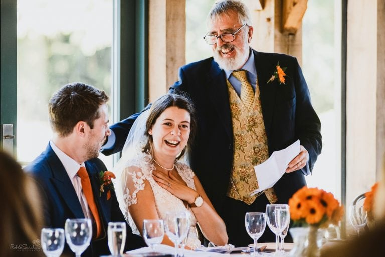 Bride emotional as her dad gives wedding speech