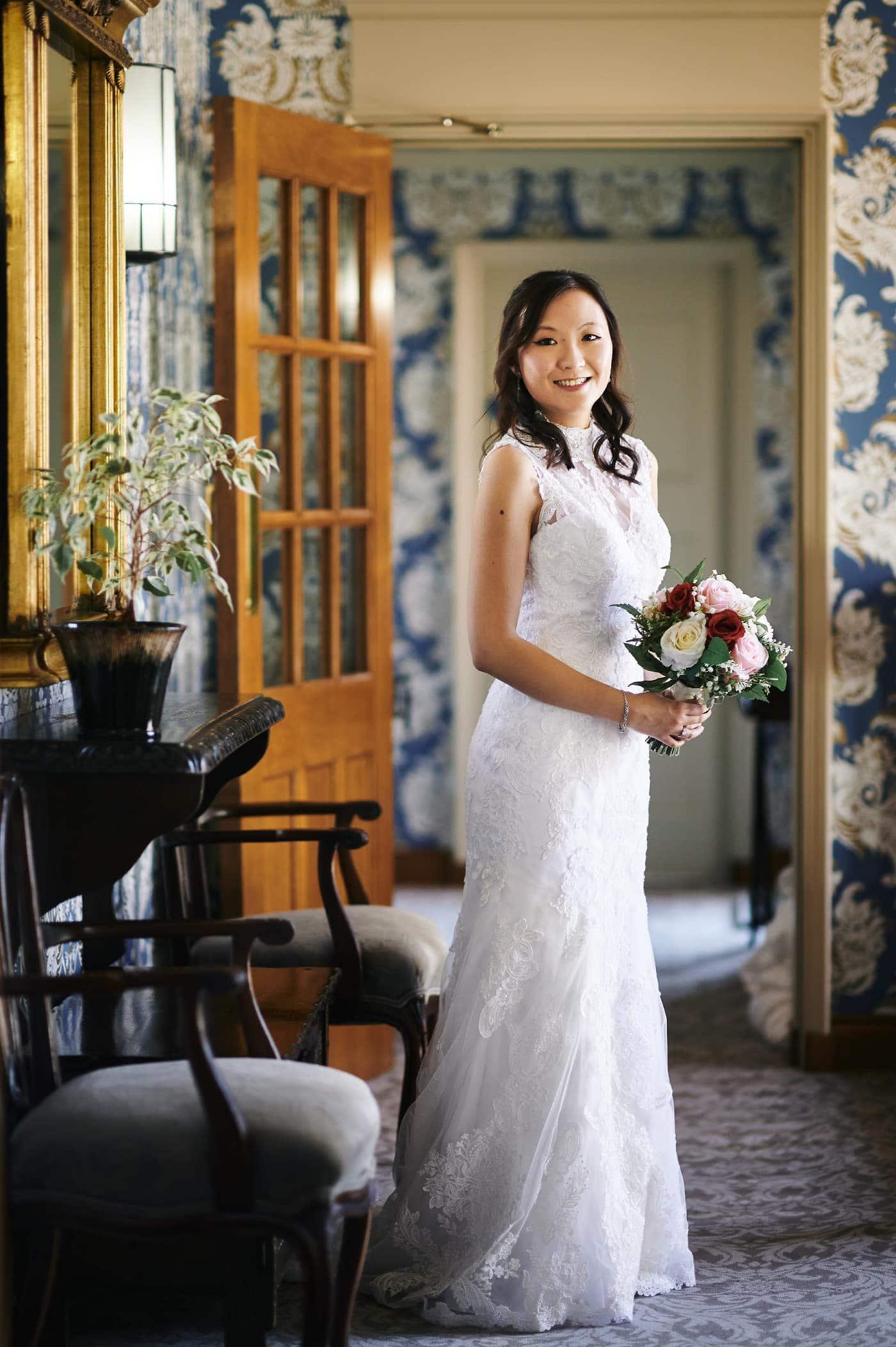 Portrait of bride at Mallory Court