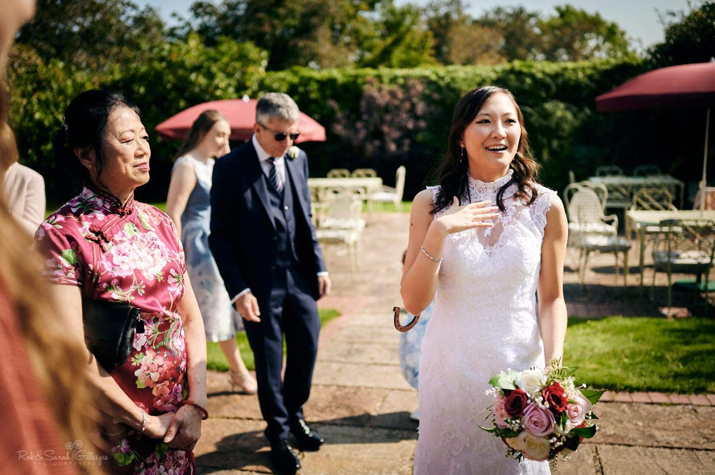 Covid wedding reception at Mallory Court