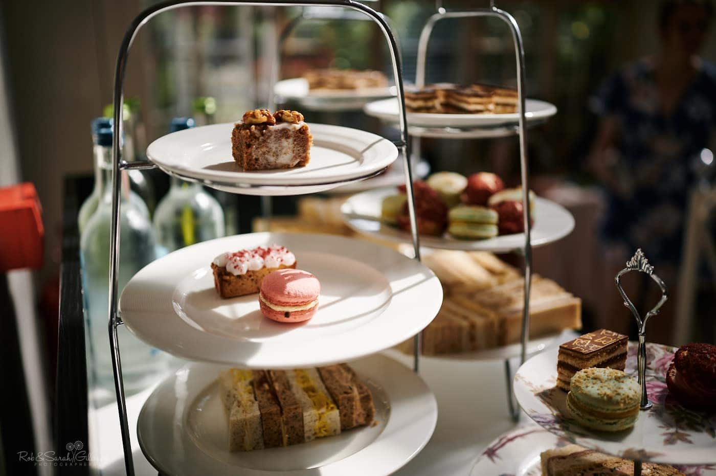 Afternoon tea cakes at Mallory Court