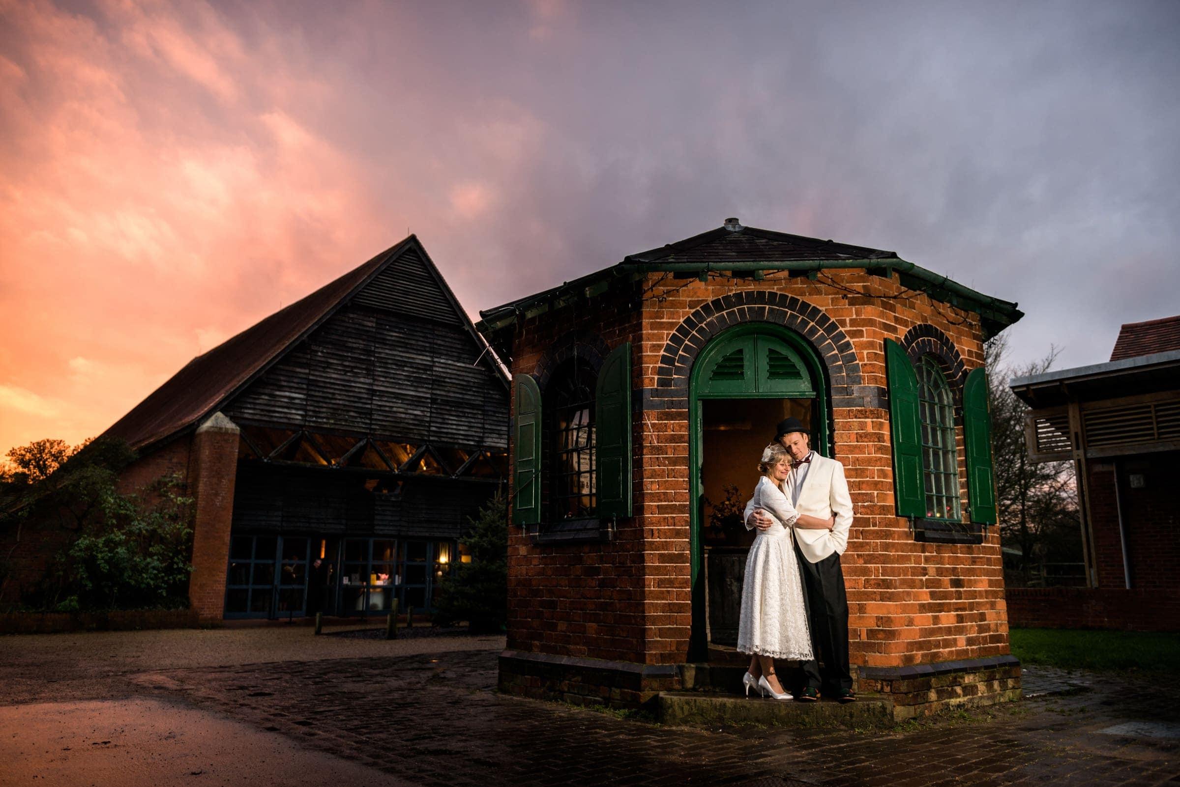 Bride & Groom Small Wedding at beautiful venue